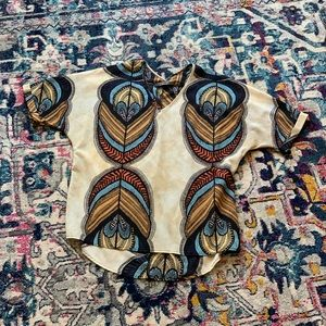Boutique brand Renee C. African print blouse